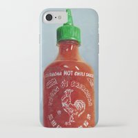 sriracha iPhone & iPod Cases featuring Sriracha Oil Painting by The GRYLLUS