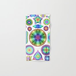 Ernst Haeckel Rainbow Diatoms Hand & Bath Towel
