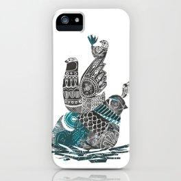 nesting birds iPhone Case