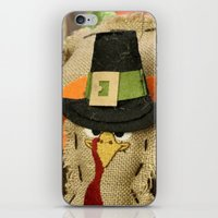 turkey iPhone & iPod Skins featuring Turkey Time by IowaShots