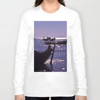 vietnam Long Sleeve T-shirts featuring Sunset - Fishermen - Vietnam by CAPTAINSILVA