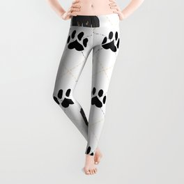 Mantle Great Dane Paw Print Pattern Leggings