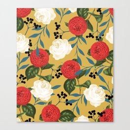 Floral Obsession #society6 #pattern #buyart Canvas Print