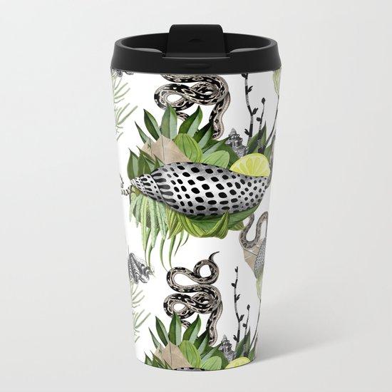 shells and snakes Metal Travel Mug