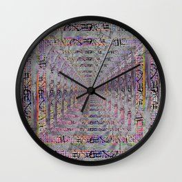 Crackle Wall Clock