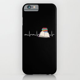 Book Heartbeat Librarian Funny Bookworm Reading Lover Gift iPhone Case