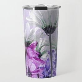 Purple Lavender Flowers Travel Mug