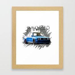 Bmw e30 Framed Art Print