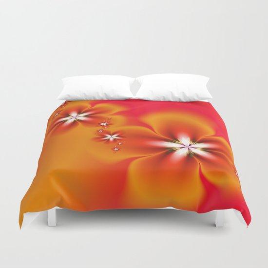 Fleur d'Automne Fractal Duvet Cover
