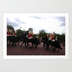 The Guards with their Horses 16 Art Print