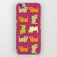 cartoon iPhone & iPod Skins featuring Cartoon Kitties by Irina  Romanovsky
