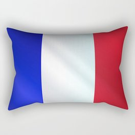 French Grunge Flag Gloss Rectangular Pillow