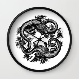 Salamander and Dragon Wall Clock