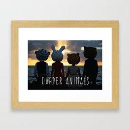 Dapper Animals Sunset Framed Art Print