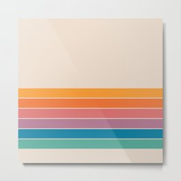 Boca Spring Stripes Metal Print
