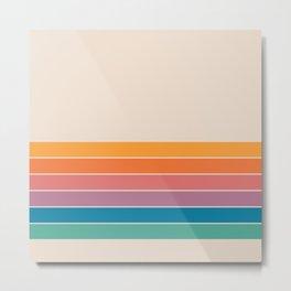 Boca Spring Stripes Metal Print