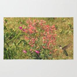 Hummingbird flower 28 Rug