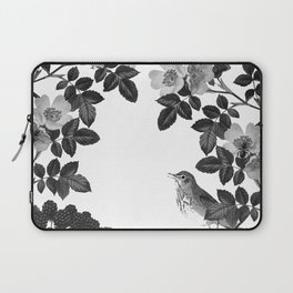Birds and the Bees Black and White Laptop Sleeve