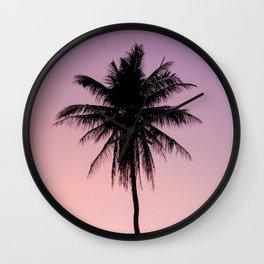 Summer Palms Wall Clock