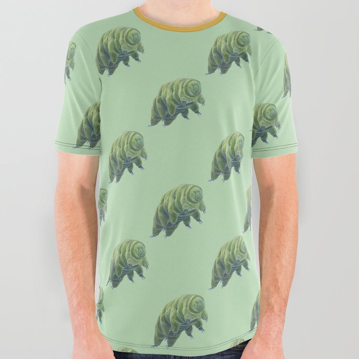 Tardigrade_in_Green_All_Over_Graphic_Tee_by_Chelsea_Starr_Illustration__Large
