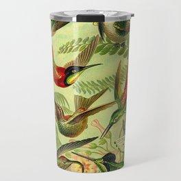 HUMMINGBIRD COLLAGE- Ernst Haeckel Travel Mug