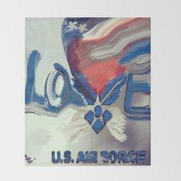 Air Force Brat Throw Blanket