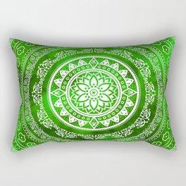 Mandala Emerald Destiny Spiritual Zen Bohemian Hippie Yoga Mantra Meditation Rectangular Pillow