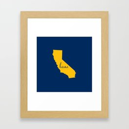 California is Home - Go Chargers Framed Art Print
