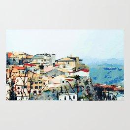 Catanzaro: view of the historic center Rug