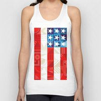 america Tank Tops featuring America by Fimbis