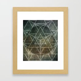 Tetrahedron Ignis Framed Art Print
