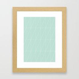 Mint Triangles by Friztin Framed Art Print