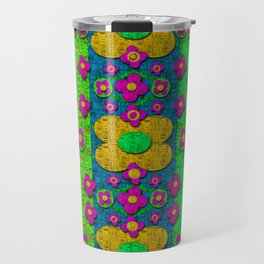Big flower power to the people Travel Mug