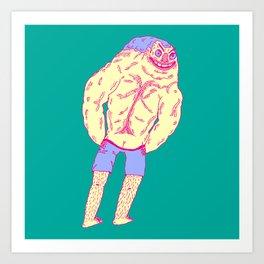 Muscle Butt Art Print