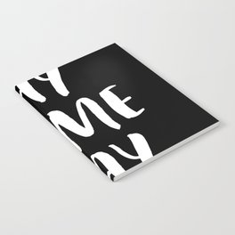 Yay Game Day Football Sports Team White Text Notebook