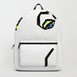 Abstract face Backpack