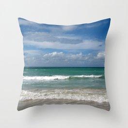 Water, Waves, Sand... | Seascape | Beach Landscape Throw Pillow