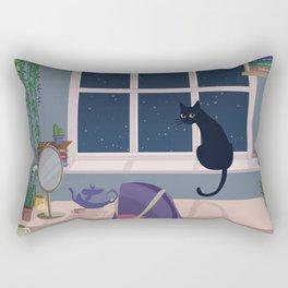 Cat & plant hoarder room Rectangular Pillow