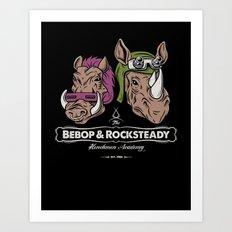 Bebop & Rocksteady Henchmen Academy  Art Print