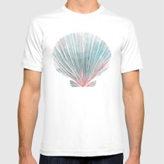Shell White Mens Fitted Tee MEDIUM