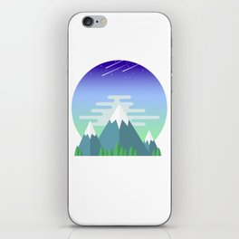 Space Mountains iPhone Skin