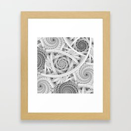 GET LOST - Black and White Spiral Framed Art Print