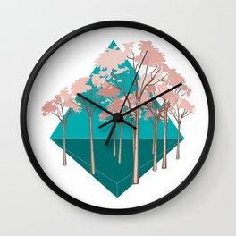 """Trees & Pyramids"" Wall Clock"