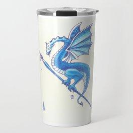 Blue Dragon Art Warrior Travel Mug