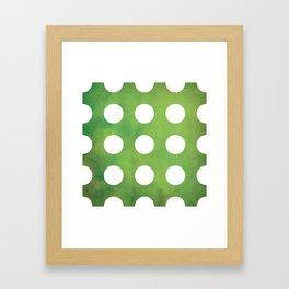 Lush Polkadots Framed Art Print