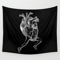 racing Wall Tapestries featuring Racing Heart (black) by Other People's Characters