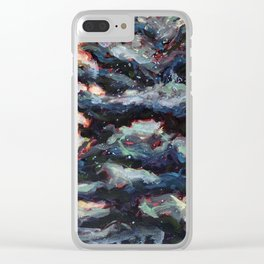 Route to Happiness Tree Clear iPhone Case