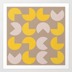 Fortune cookie pattern Art Print