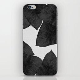 Banana Leaf Black & White II iPhone Skin