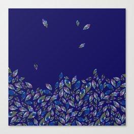 Tumbling Leaf Blue Canvas Print